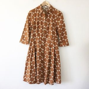 Boden Polka Dot Riviera Shirt Dress